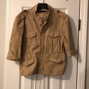 Khaki safari jacket by John Eshaya